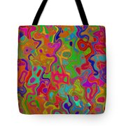 Red And Gold Abstract Tote Bag
