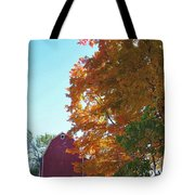 Red And Gold And Blue Tote Bag