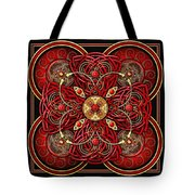Red And Gold Celtic Cross Tote Bag