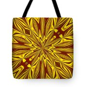 Red And Gold Christmas Kaleidescope Tote Bag