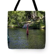 Red And Green Buoys Tote Bag