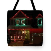 Red And Green Christmas Tote Bag