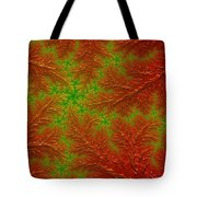 Red And Green Digital Fractal Artwork Tote Bag