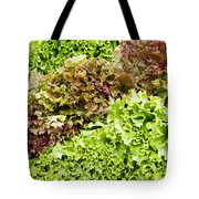 Red And Green Leaf Lettuce  Tote Bag