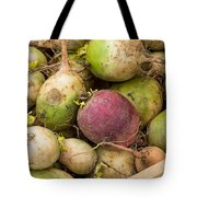 Red And Green Radishes Tote Bag