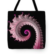 Red And Pink Fractal Spiral Tote Bag