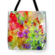 Red And Purple Calibrachoa - Digital Paint II Tote Bag
