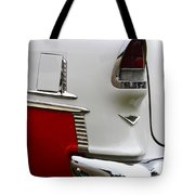 Red And White 1955 Chevy Tote Bag