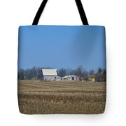 Red And White Barns Tote Bag