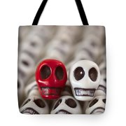 Red And White Tote Bag by Mike Herdering