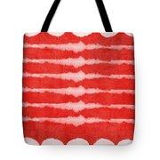 Red And White Shibori Design Tote Bag