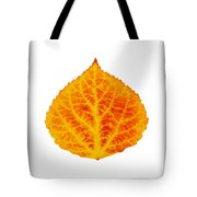 Red And Yellow Aspen Leaf 6 Tote Bag