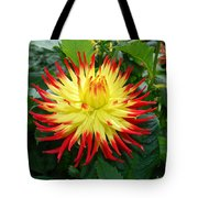 Red And Yellow Flower Tote Bag