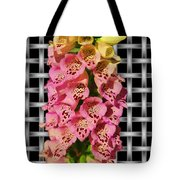 Red And Yellow Hollyhocks Tote Bag
