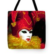 Red And Yellow Jester Tote Bag