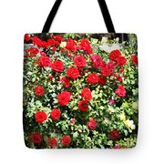 Red And Yellow Roses Tote Bag