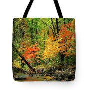 Red And Yellow Water Glow Tote Bag