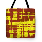 Red And Yellow Wave No 3 Tote Bag