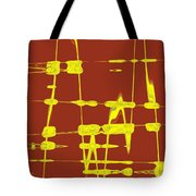 Red And Yellow Wave No 4 Tote Bag