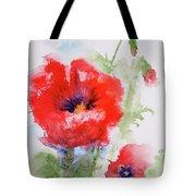 Red Anemones Tote Bag