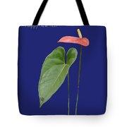 Red Anthurium Greeting Tote Bag