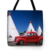Red Antique Car Tote Bag