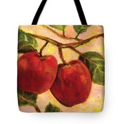 Red Apples On A Branch Tote Bag