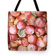 Red Apples With Green Leaf Tote Bag
