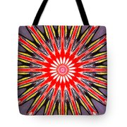 Red Arrow Abstract Tote Bag
