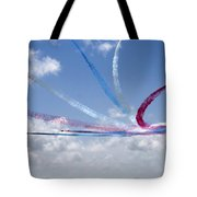 Red Arrows Aerobatic Display Team Tote Bag