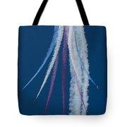 Red Arrows Break Tote Bag