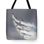 Red Arrows Flying In Formation Tote Bag