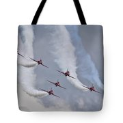 Red Arrows Roll Left Tote Bag