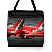Red Arrows Threesome Take-off Tote Bag