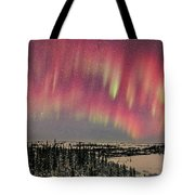 Red Aurora Panorama 1 Feb 12, 2016 Tote Bag