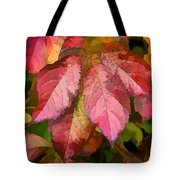 Red Autumn Line Art Tote Bag
