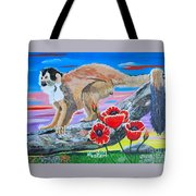Red Backed Squirrel Monkey Base On A Photo By Larry Linton Tote Bag