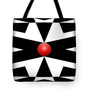 Red Ball 25a Panoramic Tote Bag