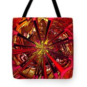 Red Ball 9 Enter The Sun Tote Bag