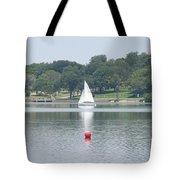 Red Ball Sailing Tote Bag
