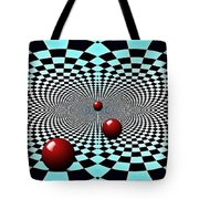 Red Balls Triptych Tote Bag