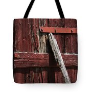 Red Barn Abstract Tote Bag by Rebecca Sherman