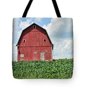 Red Barn And New Corn Tote Bag