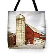 Red Barn And Silo Vermont Tote Bag