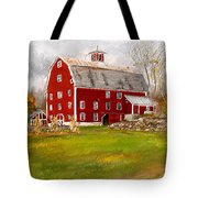 Red Barn In Woodstock Vermont- Red Barn Art Tote Bag