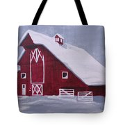 Red Barn Tote Bag by Kathy Weidner