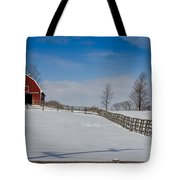Red Barn Tote Bag