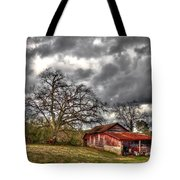 Red Barn On The Boswell Farm Tote Bag
