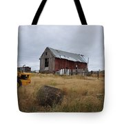Red Barn On The Hill Tote Bag