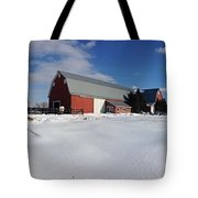 Red Barn Series Feat. Snow Tote Bag